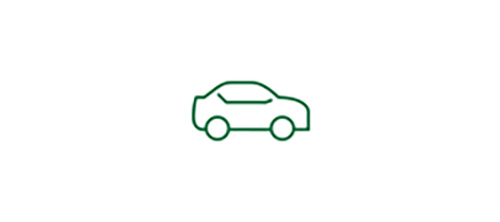 Car icon representing increased safety during low-visibility with TECNIS® Monofocal 1-Piece IOL